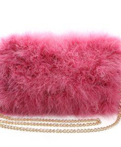 Fluffy Fur Fever Bag Raspberry Pink