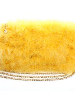 Fluffy Fur Fever Bag Rubber Duck Yellow