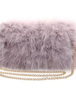 Fluffy Fur Fever Bag Watercolour Ash Grey