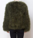 Fluffy Fur Fever Jacket Moss Green Back