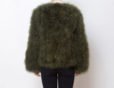 Fluffy Fur Fever Jacket Moss Green Back