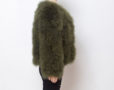 Fluffy Fur Fever Jacket Moss Green Side