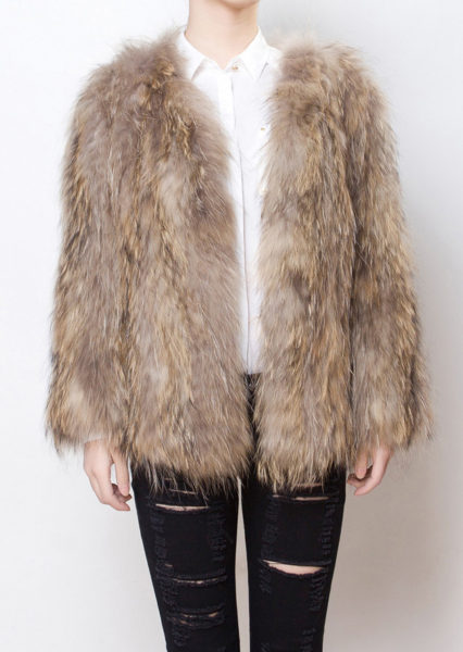 Mosh Fur Coat Front Open