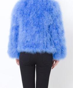 Fluffy Fur Fever Jacket Cerulean Blue Back