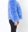 Fluffy Fur Fever Jacket Cerulean Blue Side