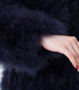 Fluffy Fur Fever Jacket Midnight Blue Arm Closeup