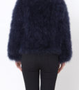 Fluffy Fur Fever Jacket Midnight Blue Back