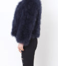 Fluffy Fur Fever Jacket Midnight Blue Side