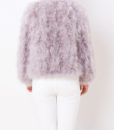Fluffy Fur Fever Jacket Watercolour Ash Grey Back