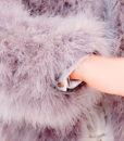 Fluffy Fur Fever Jacket Watercolour Ash Grey Details