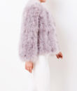 Fluffy Fur Fever Jacket Watercolour Ash Grey Side