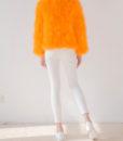 Fluffy Fur Fever Jacket Fuzzy Orange Back