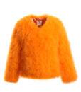 Fluffy Fur Fever Jacket Fuzzy Orange Packshot