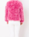 Fluffy Fur Fever Jacket Raspberry Pink Back