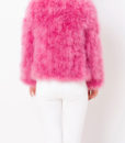 Fluffy Fur Fever Jacket Raspberry Pink Back