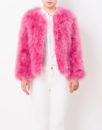 Fluffy Fur Fever Jacket Raspberry Pink Front 1
