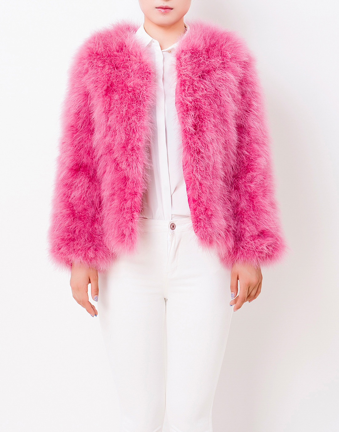Fluffy Fur Fever Jacket Raspberry Pink - Pellobello