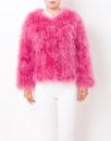 Fluffy Fur Fever Jacket Raspberry Pink Front 2
