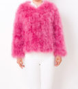 Fluffy Fur Fever Jacket Raspberry Pink Front 2