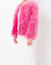 Fluffy Fur Fever Jacket Raspberry Pink Side