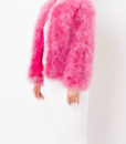 Fluffy Fur Fever Jacket Raspberry Pink Side