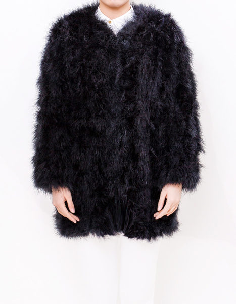 Fluffy Fur Fever Coat Classic Black Front