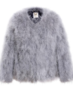 Fluffy Fur Fever Jacket Silver Grey Packshot