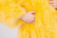 Fluffy Fur Fever Jacket Rubber Duck Yellow Details