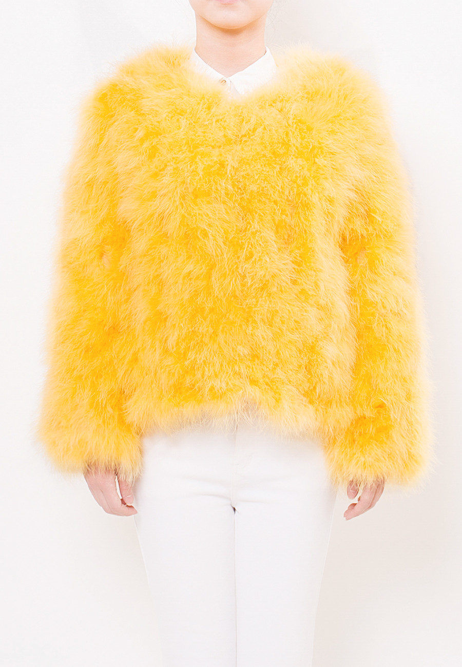 Fluffy Fur Fever Jacket Rubber Duck Yellow Front