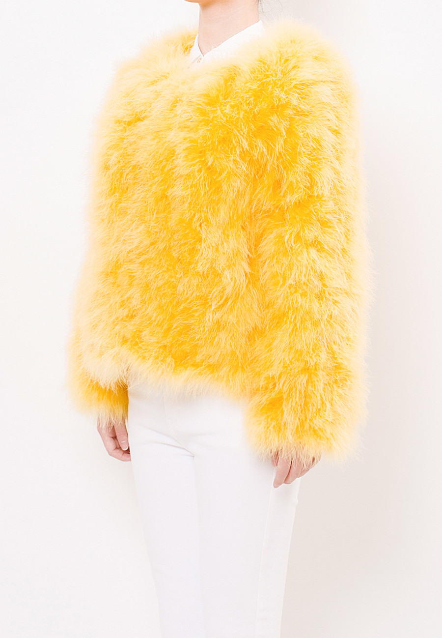 Fluffy Fur Fever Jacket Rubber Duck Yellow Half Side