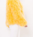 Fluffy Fur Fever Jacket Rubber Duck Yellow SIde