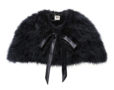 Fluffy Fur Cape Classic Black