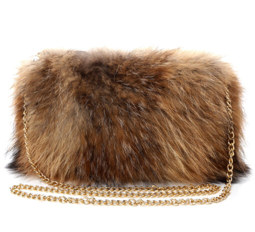 Fluffy Fur Fever Bag Luxury Edition Natural Brown