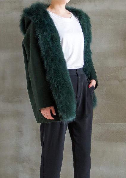 Oversized Wool Coat Half Side