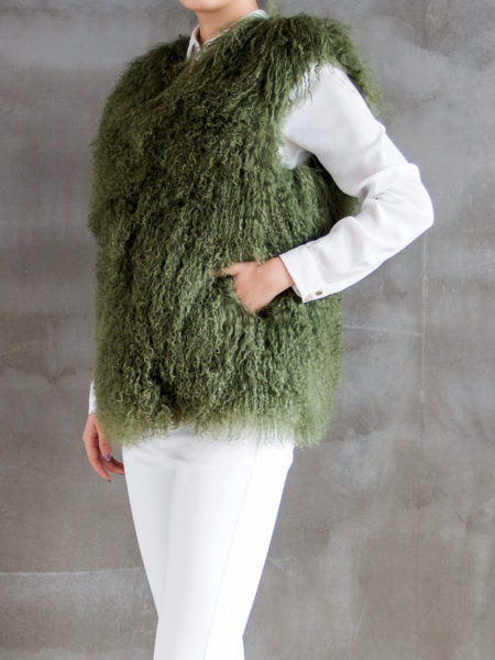 mongolian-fur-vest-army-green-half-side
