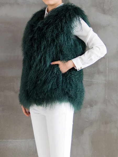 mongolian-fur-vest-jade-green-half-side