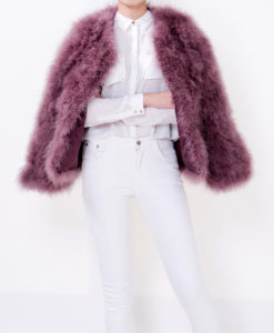 Fluffy Fur Fever Jacket Dusty Rose Cover