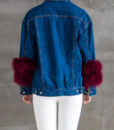 Denim Feather Jacket Back