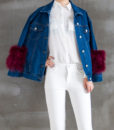 Denim Feather Jacket Front 2