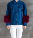 Denim Feather Jacket Front