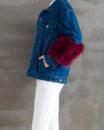 Denim Feather Jacket Side