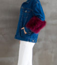 Denim Feather Jacket Side