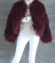 Mongolian Fur Jacket Dark Cherry Cover