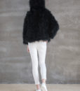 Fluffy Fur Fever Hoodie Classic Black Back