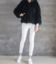 Fluffy Fur Fever Hoodie Classic Black Front 1