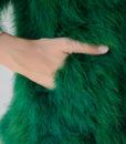 Fluffy Fur Fever Jacket Emerald Green Pocket