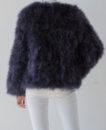 Fluffy Fur Fever Jacket Graphite Grey Back