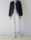 Fluffy Fur Fever Jacket Graphite Grey Front 2