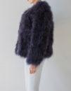 Fluffy Fur Fever Jacket Graphite Grey Side