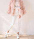 Fluffy Fur Fever Jacket Long Version Soft Pink Pose 1
